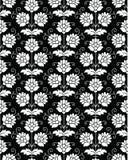 Seamless wallpaper in black Stock Photo