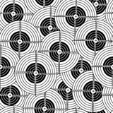 Seamless wallpaper black target Royalty Free Stock Photography