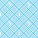 Seamless wallpaper. Blue checkered background. Tablecloth Royalty Free Stock Photo