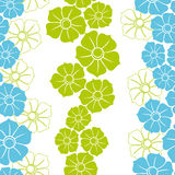 Seamless Wallpaper with blue and green shapes  Royalty Free Stock Images