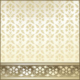 Seamless wallpaper and border Royalty Free Stock Images