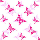 Seamless wallpaper butterfly Stock Photos