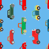 Seamless wallpaper of cars Stock Photo