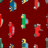 Seamless wallpaper of cars Royalty Free Stock Photography