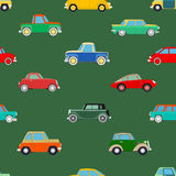 Seamless wallpaper of cars Royalty Free Stock Image