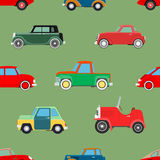 Seamless wallpaper of cars Royalty Free Stock Images