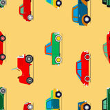 Seamless wallpaper of cars Royalty Free Stock Photo
