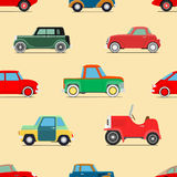 Seamless wallpaper of cars Stock Image