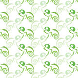 Seamless wallpaper chameleon. Vector illustration Stock Photos