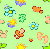 Seamless wallpaper for children Stock Photo