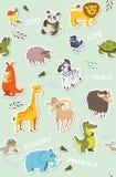 Seamless wallpaper for children. vector illustration Stock Photos
