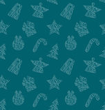 Seamless Wallpaper with Christmas Elements Royalty Free Stock Photography