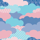 Seamless wallpaper clouds. Seamless wallpaper of clouds for children Royalty Free Stock Photos