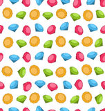 Seamless Wallpaper of Colorful Diamond Stock Images