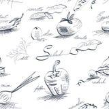 Seamless_wallpaper com vegetais Imagem de Stock