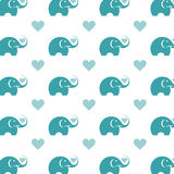Seamless wallpaper elephant. Stock Photography