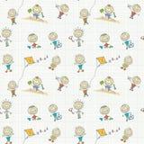 seamless wallpaper för barnspelrum Arkivfoto