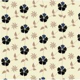seamless wallpaper för blom- modell Royaltyfri Foto