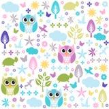 seamless wallpaper för blom- modell Royaltyfria Foton
