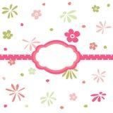 seamless wallpaper för blom- modell Royaltyfria Bilder
