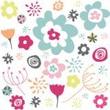 seamless wallpaper för blom- modell Royaltyfri Fotografi