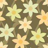 seamless wallpaper för blom- patt Arkivfoto