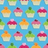 seamless wallpaper för cake stock illustrationer