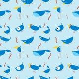 seamless wallpaper för fåglar Arkivfoton