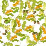 seamless wallpaper för höst Royaltyfri Foto