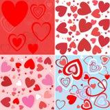 seamless wallpaper för hjärta Fotografering för Bildbyråer