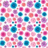 seamless wallpaper för konstgjorda blommor Fotografering för Bildbyråer