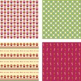 seamless wallpaper för muffiner Arkivbild