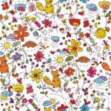 seamless wallpaper för natur stock illustrationer