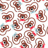Seamless wallpaper. faces monkeys. Children seamless wallpaper. Faces monkeys.Veсtor illustration royalty free illustration