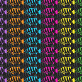 Seamless wallpaper fish. Vector illustration Royalty Free Stock Images