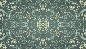 Seamless wallpaper with floral ornament Royalty Free Stock Images