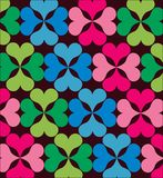 Seamless wallpaper with flower ornamentation. Stock Image