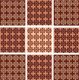 Seamless wallpaper with flower ornamentation Stock Photography