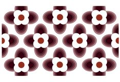 Seamless wallpaper with flower ornamentation Stock Image
