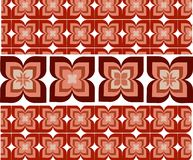 Seamless wallpaper with flower ornamentation royalty free illustration