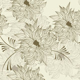 Seamless wallpaper with flowers royalty free stock photo