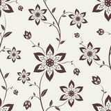 Seamless wallpaper with flowers. Seamless wallpaper for your design vector illustration