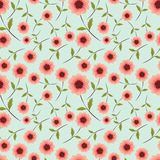 Seamless wallpaper with flowers. Abstract seamless background for your design Stock Photo