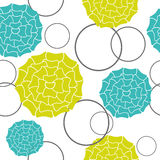 Seamless Wallpaper flowers light green and blue on a white backg Royalty Free Stock Photo