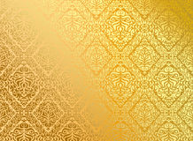 Seamless wallpaper gold Royalty Free Stock Photo