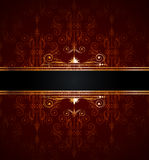 Seamless wallpaper with golden decoration Royalty Free Stock Image