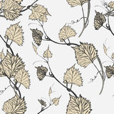 Seamless Wallpaper. Grapevine seamless pattern Royalty Free Stock Photo