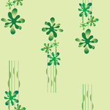 Seamless wallpaper with a green floral pattern Royalty Free Stock Images