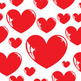 Seamless wallpaper, heart. Stock Image