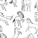 Seamless wallpaper horses Stock Photography